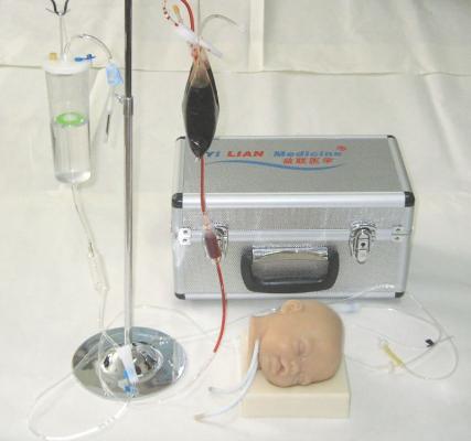 高级硅胶婴儿头部双侧静脉注射穿刺训练模型KAS-T1