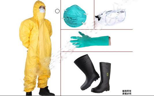 C级防化服防酸碱化学静电连体防化防护服