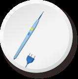 针形高频电极(140WZ/45°)