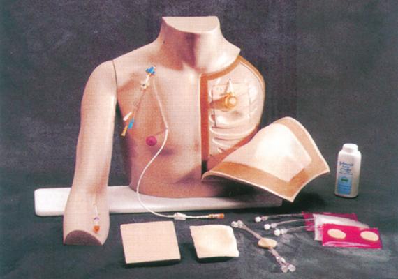 胸部注射训练模型