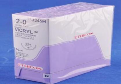 ETHICON合成可吸收性外科缝线J345H
