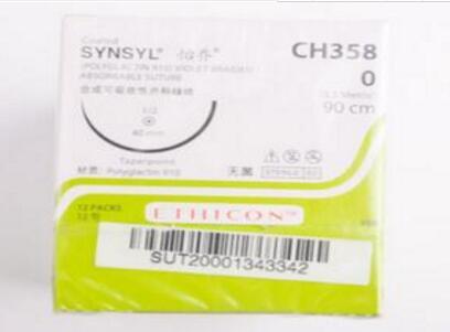 ETHICON合成可吸收性外科缝线CH358