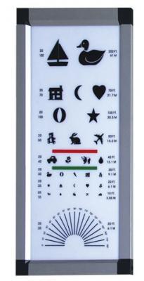 丹阳华龙LED视力表灯箱拼角CB-003